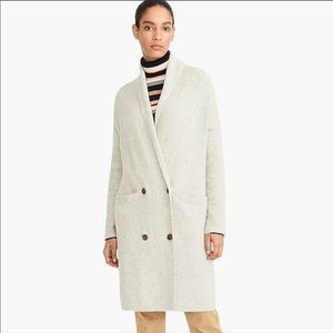 New J.Crew Double Breasted Cardi Coat Cream S